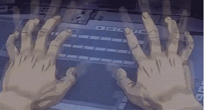 fingers exposing into many smaller fingers for more efficient typing