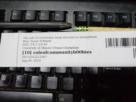 """This book's identifier has ended up at """"role of community boobies"""""""
